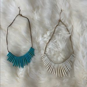Pair of gorgeous stone necklaces